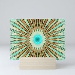 Seamless Kaleidoscope Colorful Pattern LIX Mini Art Print