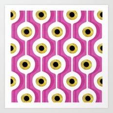 Eye Pod Pink Art Print