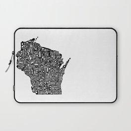 Typographic Wisconsin Laptop Sleeve