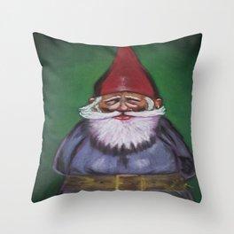 Happy Gnome Throw Pillow