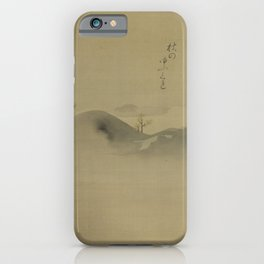 Japanese Print - Evergreens on Distant Hills - Kano Tanyu 1665 iPhone Case
