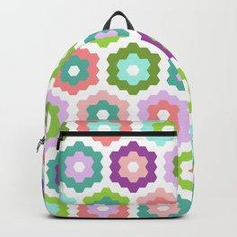 Hexie Flowers Backpack