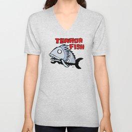 Terror fish Unisex V-Neck