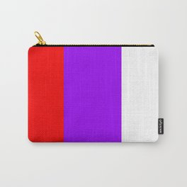 Team Colors 7...red.purple.white Carry-All Pouch