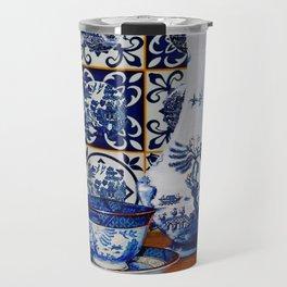 Blue Willow Stillife Travel Mug