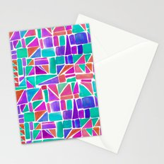 Watercolour Shapes Stationery Cards