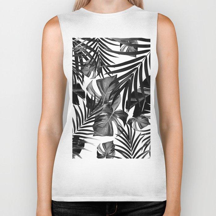 Tropical Jungle Leaves Pattern #10 #tropical #decor #art #society6 Biker Tank