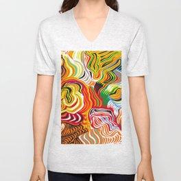 colored flow Unisex V-Neck
