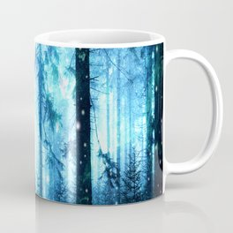 Fireflies Night Forest Coffee Mug