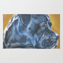 A Cane Corso dog portrait from an original painting by L.A.Shepard Rug