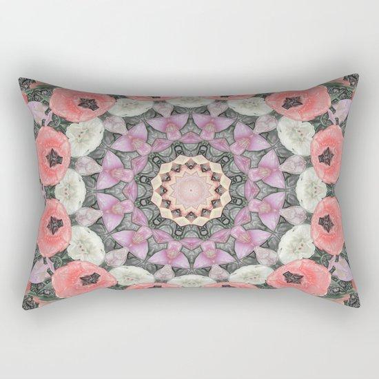 Wax Mandala Tulips Rectangular Pillow