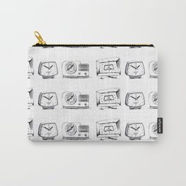 Clocks - monochromatic vintage clock pattern Carry-All Pouch