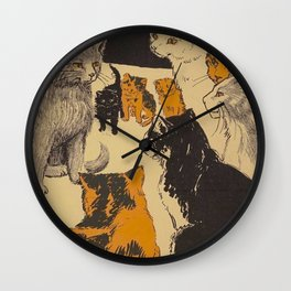 Pussy-cat town - Marion Ames Taggart and Rebecca Chase - 1906 Wall Clock
