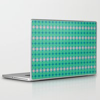 70s Laptop & iPad Skins featuring 70s Summer Blue by Honeybelle