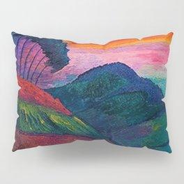 'Farmer on his Way Home at Sunrise' mountain landscape by Marianne von Werefkin Pillow Sham