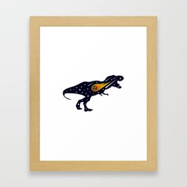Dinosaur and meteorite strike #society6 #decor #buyart #artprint Framed Art Print