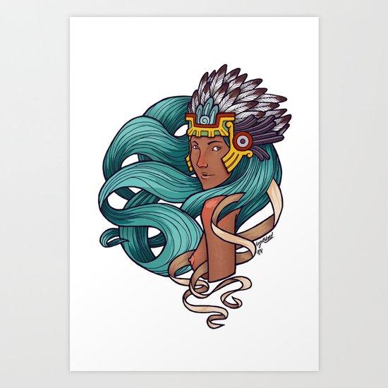 Chalchiuhtlicue Art Print
