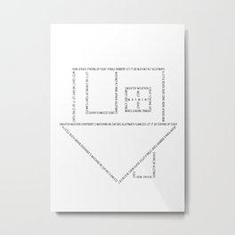 NBHD House Metal Print