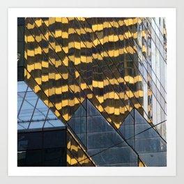 Manhattan Windows - Leopard Art Print