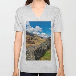 Nant Ffrancon Pass Snowdonia Unisex V-Neck