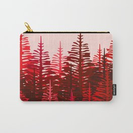 Pine Forest - Red and Pink Carry-All Pouch