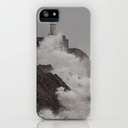 Wild Welsh Waves iPhone Case