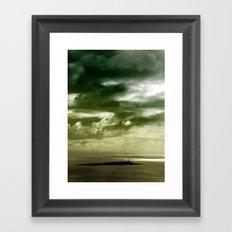 Storm over Pladda Framed Art Print