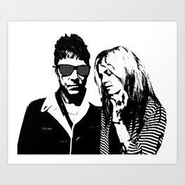 the_Kills - Black and White Art Print