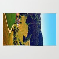 hiking Area & Throw Rugs featuring Hiking through springtime scenery by Patrick Jobst