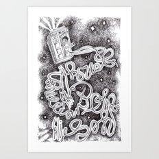 Allons-Y! Art Print