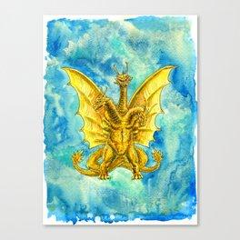 King Ghidorah : Triple Threat Canvas Print