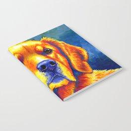 Colorful Golden Retriever Dog Portrait Notebook