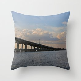 Under the Caloosahatchee Bridge Throw Pillow