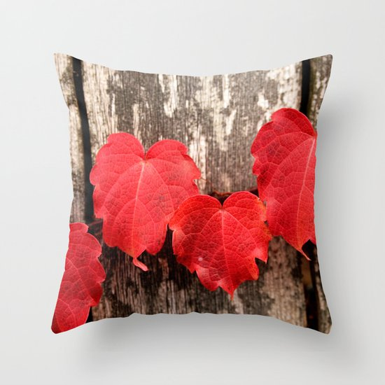 Red Ivy Throw Pillow