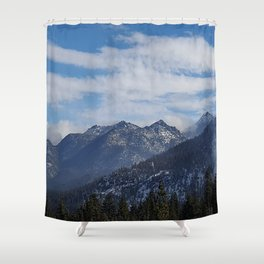 The Mountains of Lake Tahoe Shower Curtain