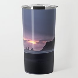 Sunset in Vik, Iceland Travel Mug