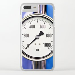 Industrial analog manometer Clear iPhone Case