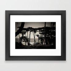 Lands End. Framed Art Print
