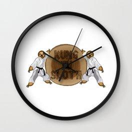 Kung Fu Sloth! Wall Clock