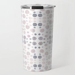 Dots, dots and more dots - blue & brown pastel colors Travel Mug