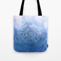 Enchanted Indigo - watercolor + doodle Tote Bag