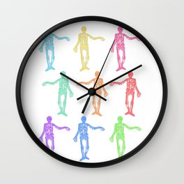 paint your bones Wall Clock