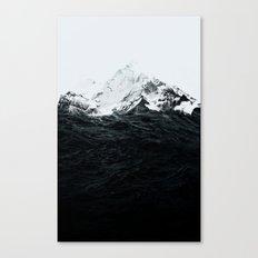 Those waves were like mountains Canvas Print
