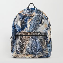 Breaking Waves Abstract Painting Backpack