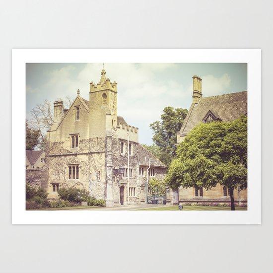 Oxford houses Art Print