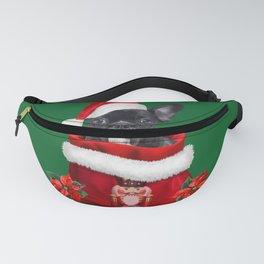 Nutcracker Christmas Bag - Santa Claus French Bulldog  Fanny Pack