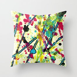 Experiments in Motion-Quad 1-Part 1 Throw Pillow