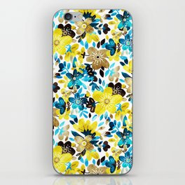 Happy Yellow Flower Collage iPhone Skin