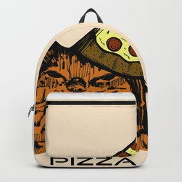 Pizza Party Cat: Funny Animal Kitty Backpack
