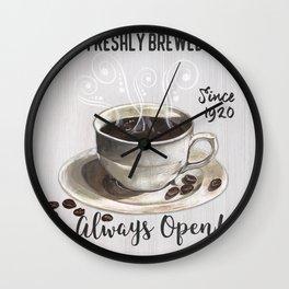 Retro Coffee Shop 2 Wall Clock